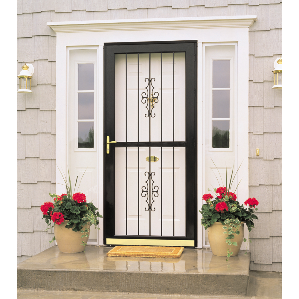 Shop larson 36 full view white madrid storm door at for Storm door prices