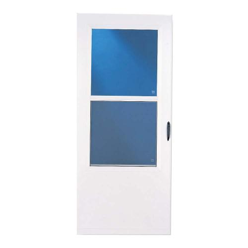 larson white bismarck vinyl storm door from lowes storm