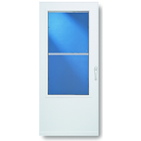 Comfort-Bilt 36-in W White Self-Storing Storm Door