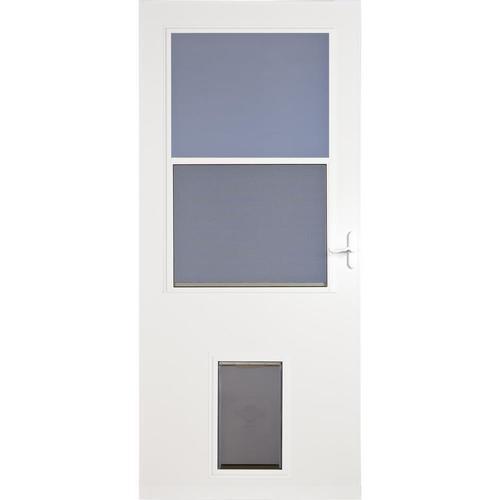 white comfort bilt self storing storm door at lowes storm