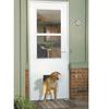 LARSON White High-View Tempered Glass Wood Core Pet Door Storm Door (Common: 36-in x 81-in; Actual: 35.75-in x 79.875-in)