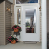 LARSON Concord White Mid-View Tempered Glass Wood Core Retractable Screen Storm Door (Common: 32-in x 81-in; Actual: 31.75-in x 79.875-in)