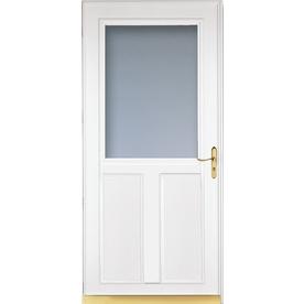 LARSON Tradewinds White High-View Tempered Glass Aluminum Retractable Screen Storm Door (Common: 36-in x 81-in; Actual: 35.75-in x 79.75-in)