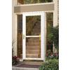 LARSON Tradewinds White Full-View Tempered Glass Aluminum Retractable Screen Storm Door (Common: 34-in x 81-in; Actual: 33.75-in x 79.75-in)