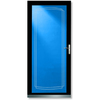 LARSON Signature Black Full-View Tempered Aluminum Glass and Interchangeable Screen Storm Door (Common: 36-in x 81-in; Actual: 35.75-in x 79.75-in)