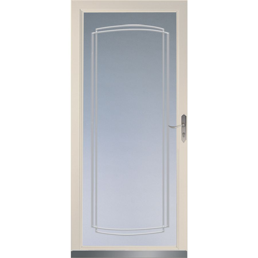 Shop larson signature almond full view tempered glass and for Full glass screen door