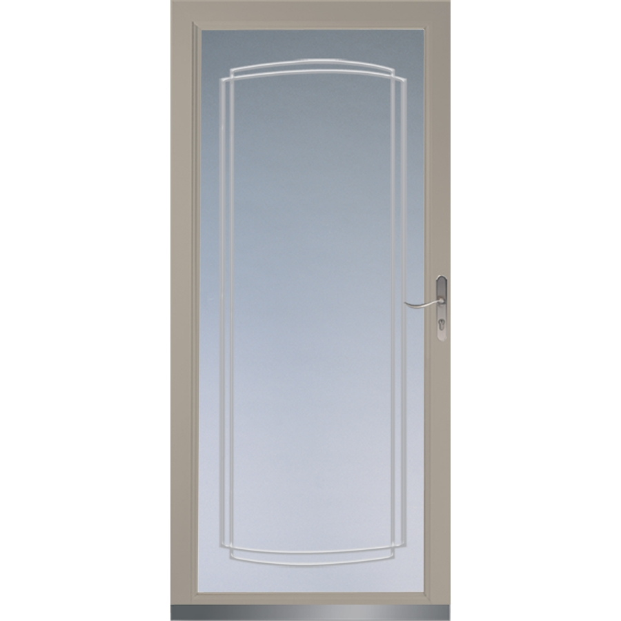 Shop larson signature sandstone full view tempered glass for Full glass screen door