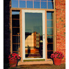 LARSON Williamsburg Almond Full-View Tempered Aluminum Glass and Interchangeable Screen Storm Door (Common: 36-in x 81-in; Actual: 35.75-in x 79.75-in)
