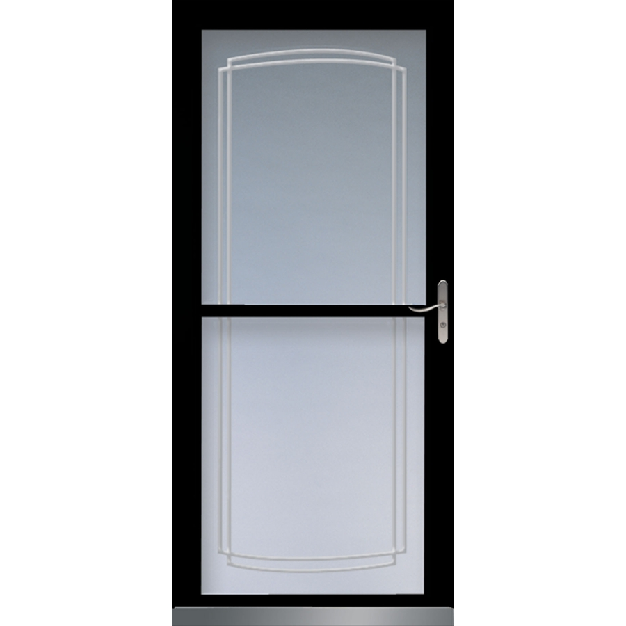 shop larson 36 in x 81 in black tradewinds full view