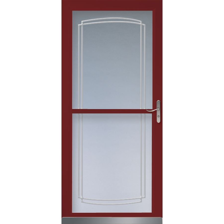 Shop larson tradewinds cranberry full view tempered glass for Full glass screen door