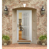 Pella Montgomery White Full-View Safety Aluminum Retractable Screen Storm Door (Common: 36-in x 81-in; Actual: 35.75-in x 79.875-in)