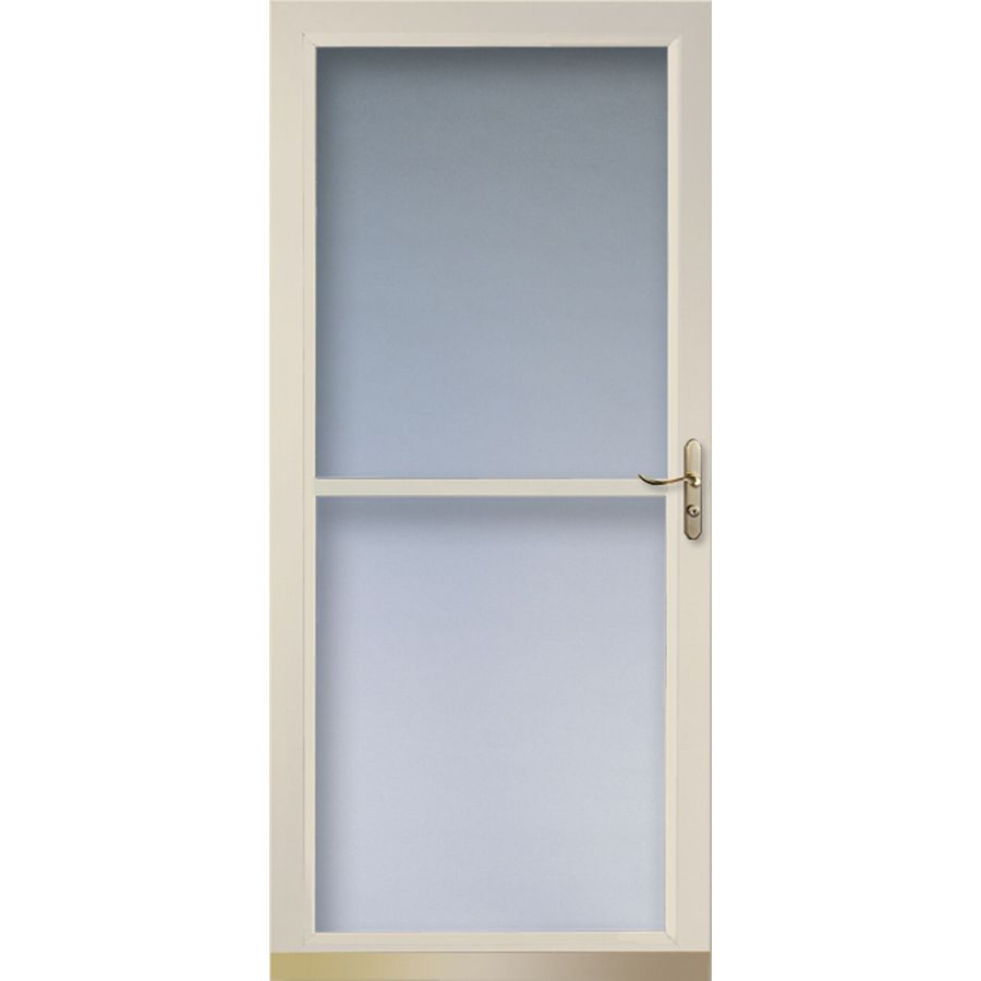 Shop larson tradewinds almond full view tempered glass for Larson storm doors