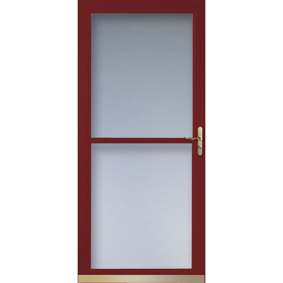 Shop larson tradewinds cranberry full view tempered glass for Glass screen door