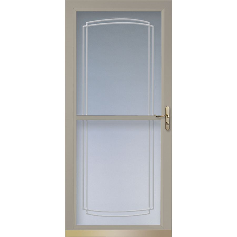 Shop larson tradewinds sandstone full view tempered glass for Larson retractable screen door