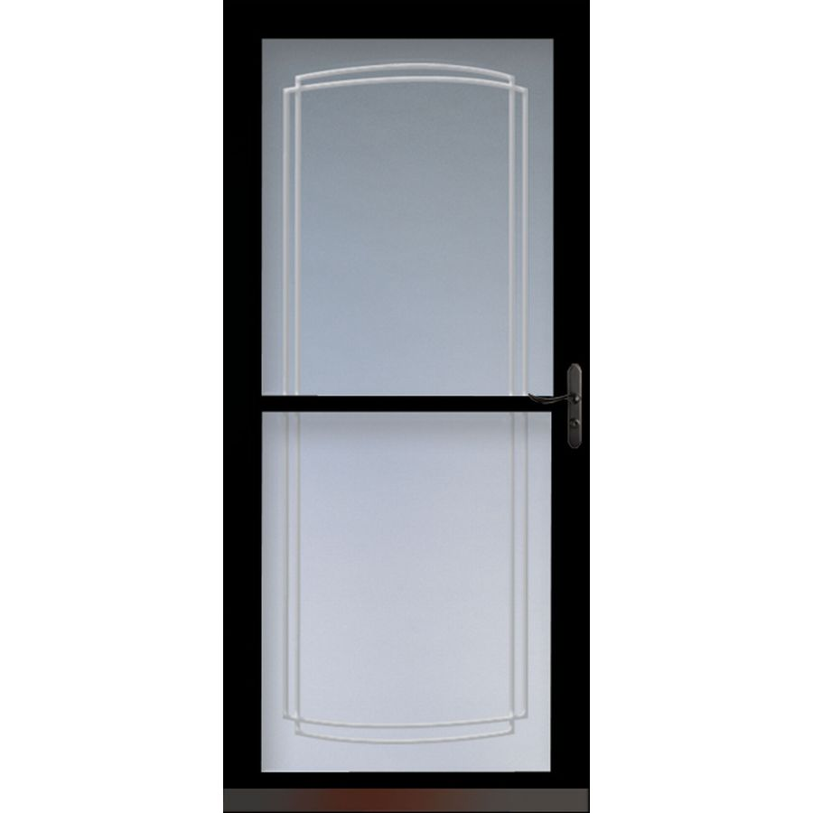 Shop larson tradewinds black full view tempered glass for 36 inch storm door