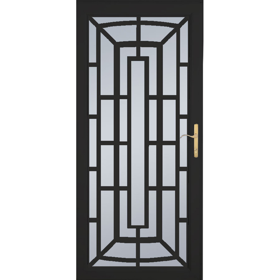 Lowe S Security Storm Doors : Shop larson annapolis brass black aluminum security door