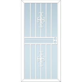 LARSON Courtyard White Steel Security Door (Common: 36-in x 81-in; Actual: 35.75-in x 79.75-in)
