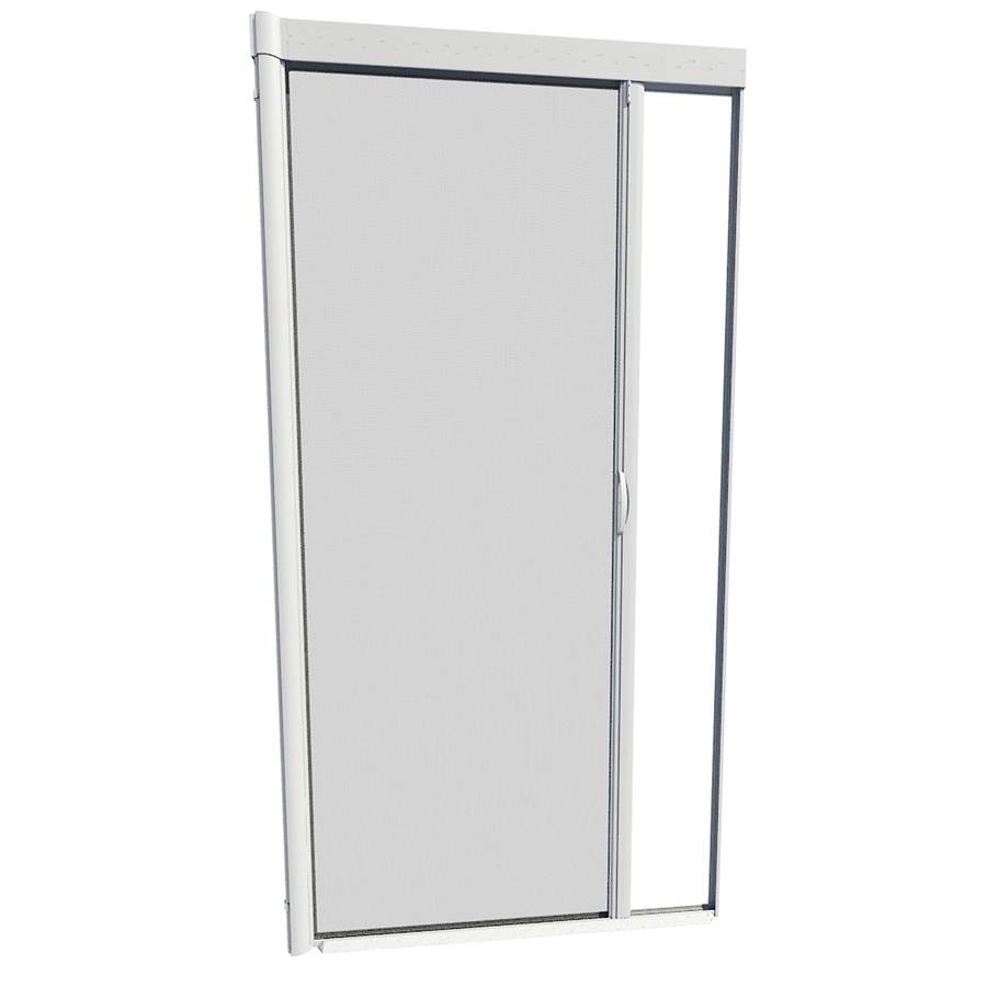 Shop larson 39 in x 79 in white retractable screen door at for Retractable screen door replacement