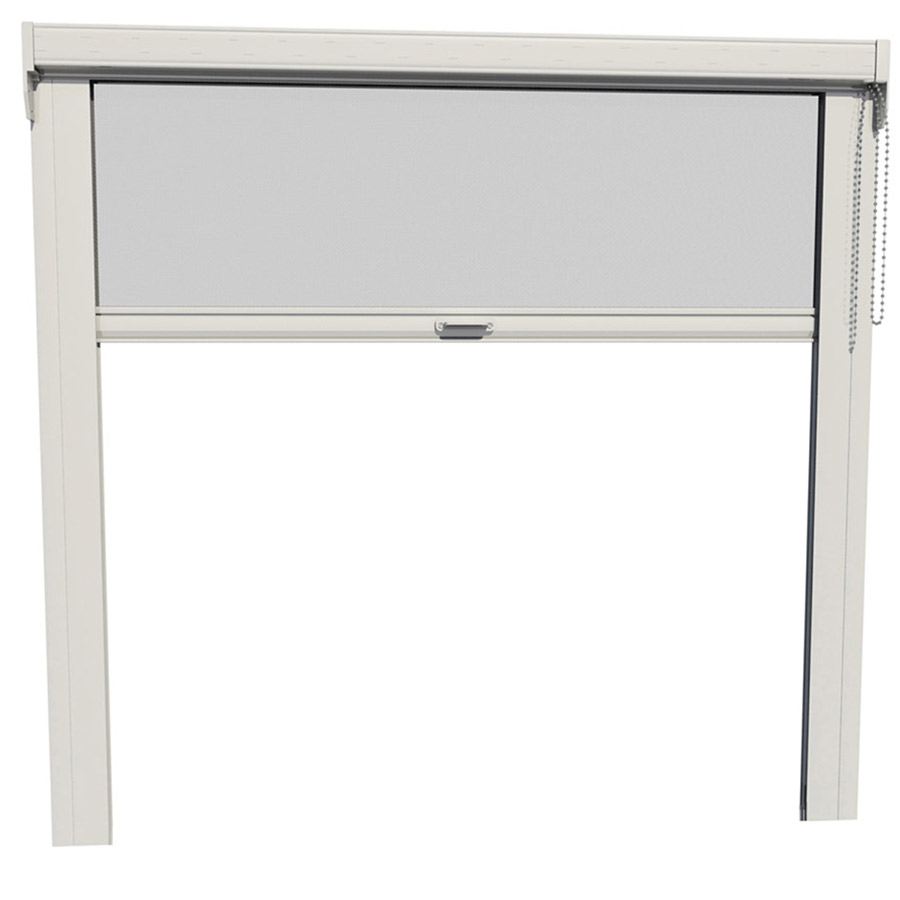 Shop larson escape 16 ft x 96 in white garage retractable for Retractable double screen door