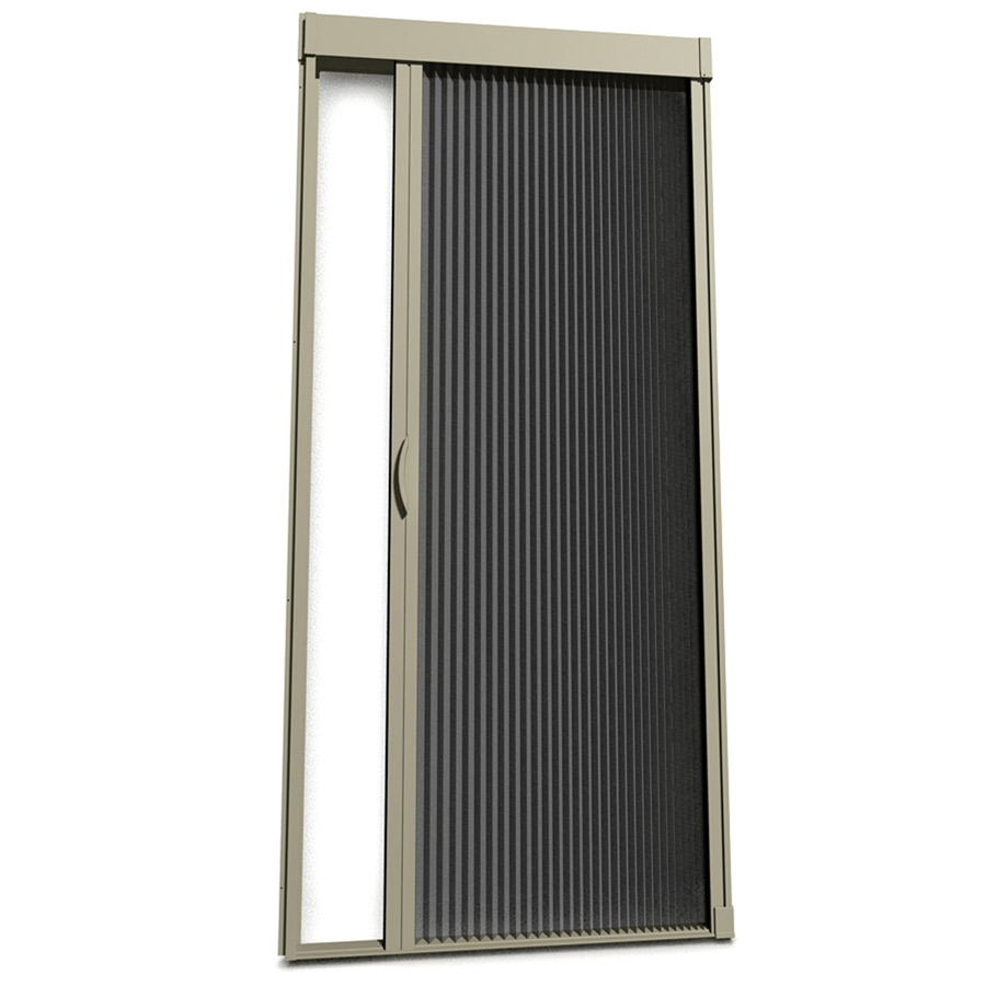 Shop larson inspire 39 in x 81 in adobe retractable screen for Disappearing screen doors lowes