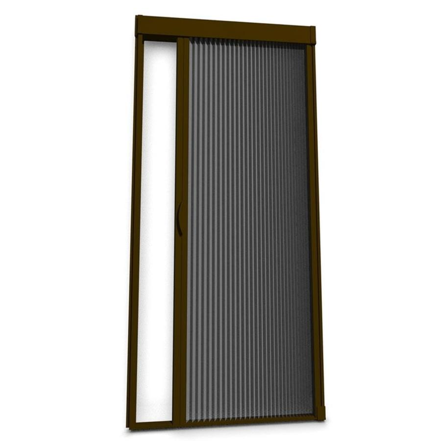 Shop larson inspire 39 in x 81 in brownstone retractable for Accordion retractable screen doors