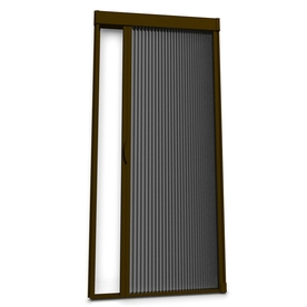 Shop larson inspire 39 in x 81 in brownstone retractable for What is the best retractable screen door
