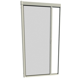 Shop larson 48 in x 91 in adobe retractable screen door at for Disappearing screen doors lowes