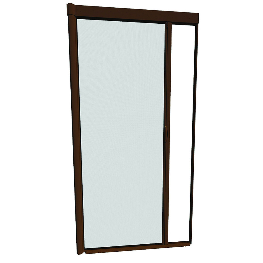 Shop larson 48 in x 91 in brownstone retractable screen Cost of retractable screen doors