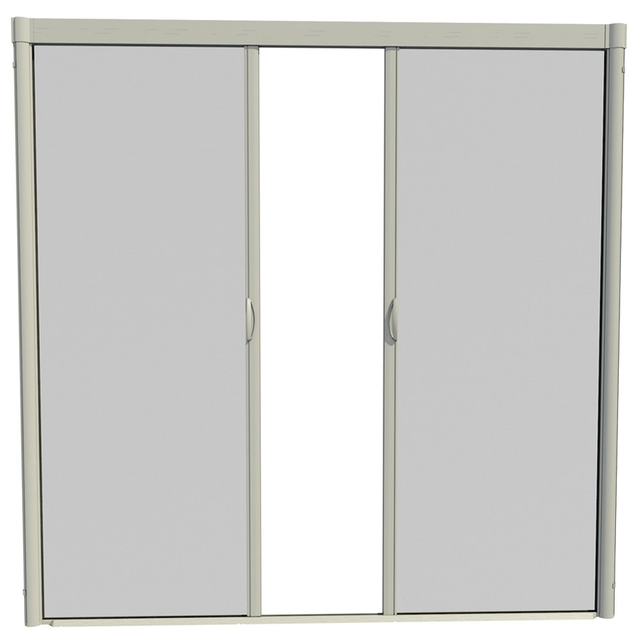 Shop Larson 96 In X 91 In Adobe Retractable Screen Door At