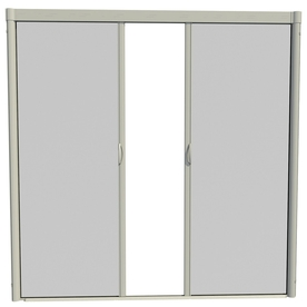 Shop larson 96 in x 91 in adobe retractable screen door at for Best rated retractable screen doors