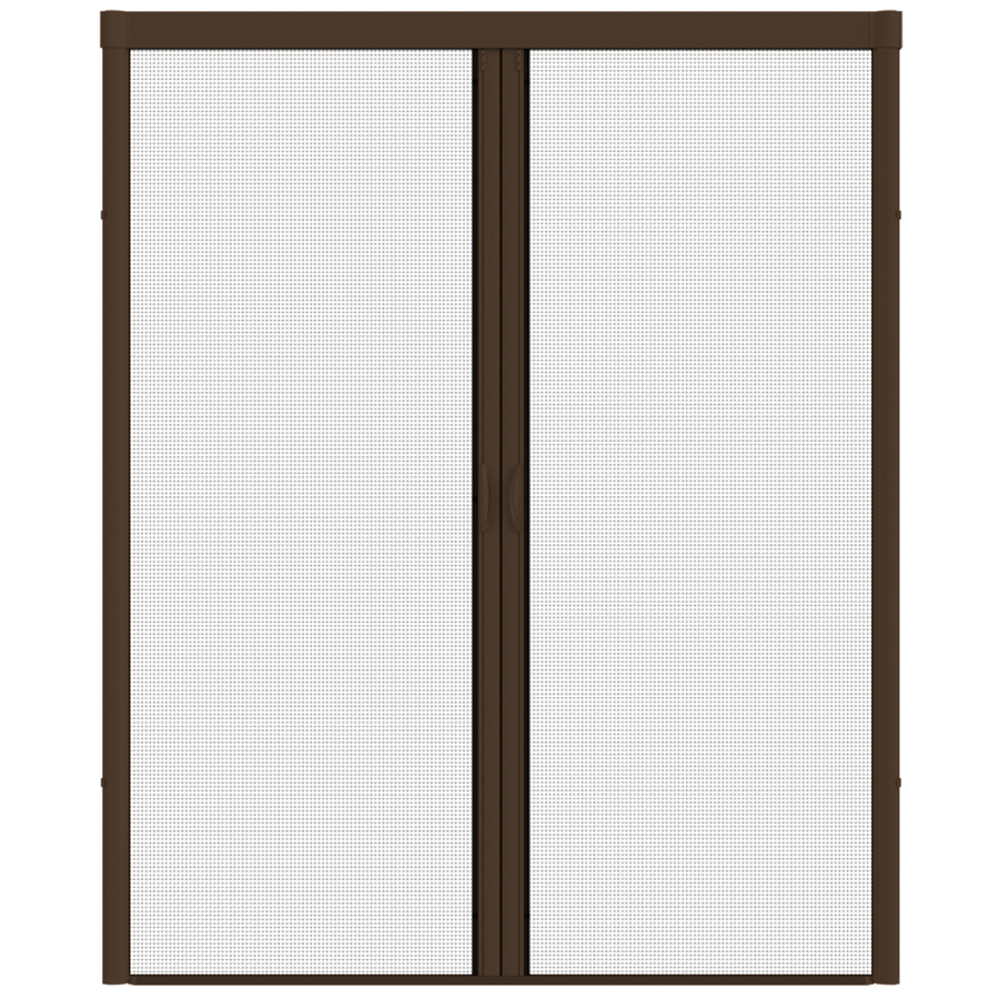 Shop larson 84 in x 79 in brownstone retractable screen for Best rated retractable screen doors