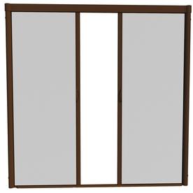 Shop larson 84 in x 79 in brownstone retractable screen for Retractable screen door repair