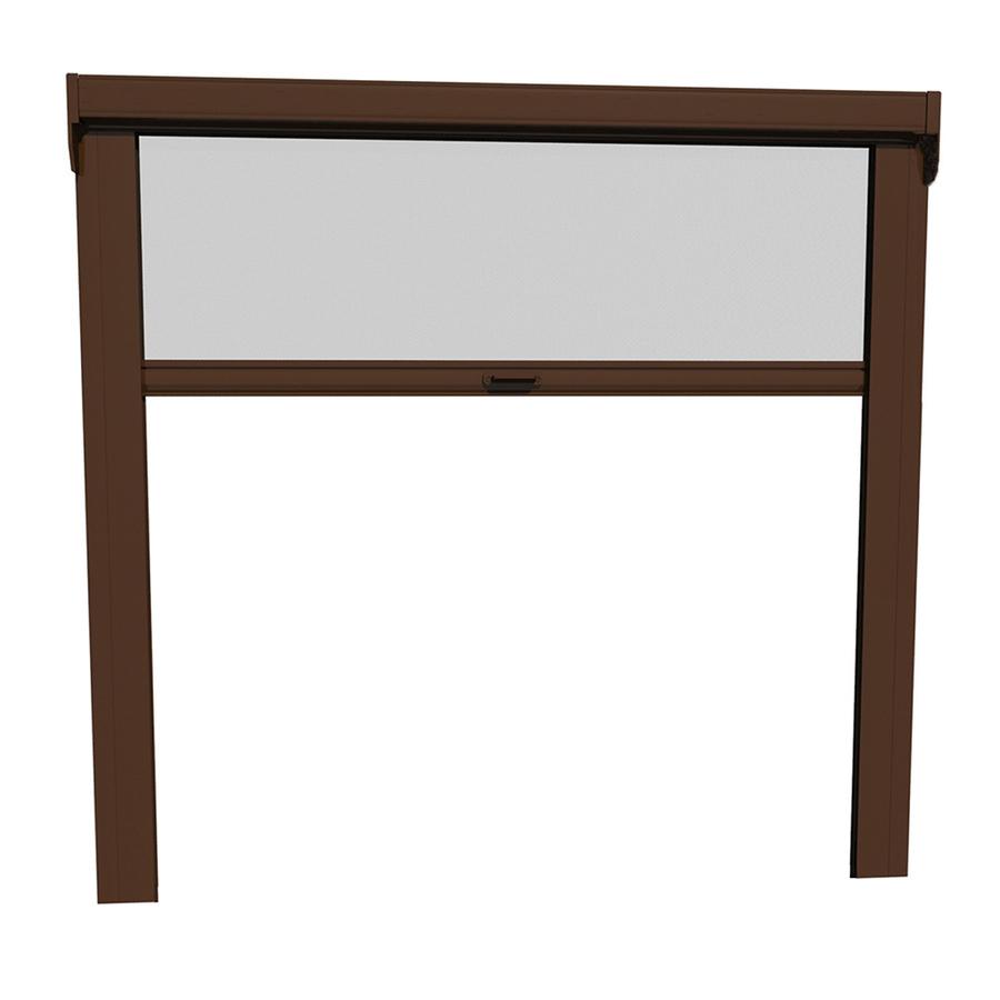96 in x 96 in brownstone garage retractable screen door at
