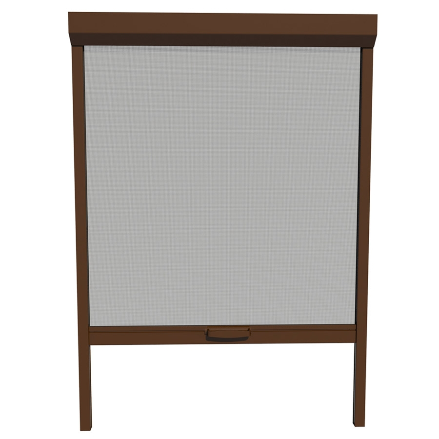 Shop larson 26 in x 72 in brownstone retractable screen for Disappearing screen doors lowes