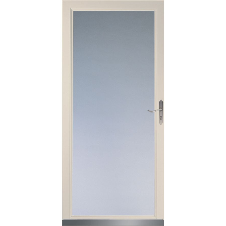 Larson Almond Signature Low E Full View Tempered Glass Storm Door