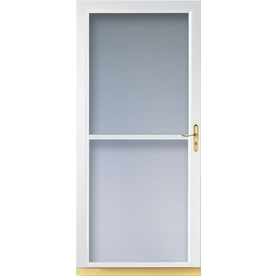 Shop larson tradewinds white full view tempered glass for 30 inch storm door