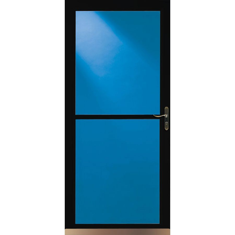 Storm Doors Lowe S On Sale : Shop larson tradewinds black full view tempered glass