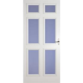 LARSON White Lexington Full-View Tempered Glass Storm Door (Common: 84-in x 36-in; Actual: 81.13-in x 37.56-in)