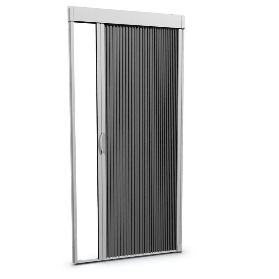 Shop larson 36 in x 79 in white retractable screen door at for Disappearing screen doors lowes
