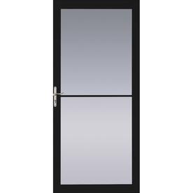 Pella Black Full-View Tempered Glass Retractable Screen Storm Door (Common: 36-in x 81-in; Actual: 35.75-in x 79.875-in)