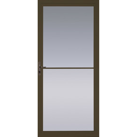 Shop pella brown full view tempered glass retractable for Pella retractable screen door