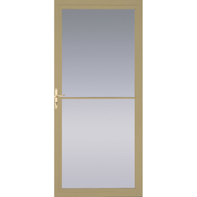 Shop pella tan full view tempered glass retractable screen for Pella retractable screen door