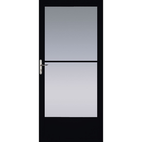shop pella black mid view tempered glass retractable