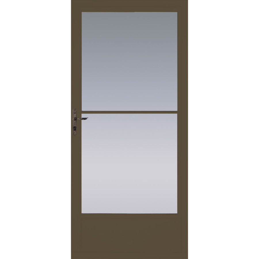 Shop Pella Brown Mid View Tempered Glass Retractable
