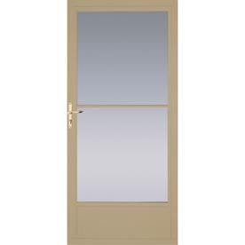 Shop pella putty mid view tempered glass aluminum for 36 inch retractable screen door