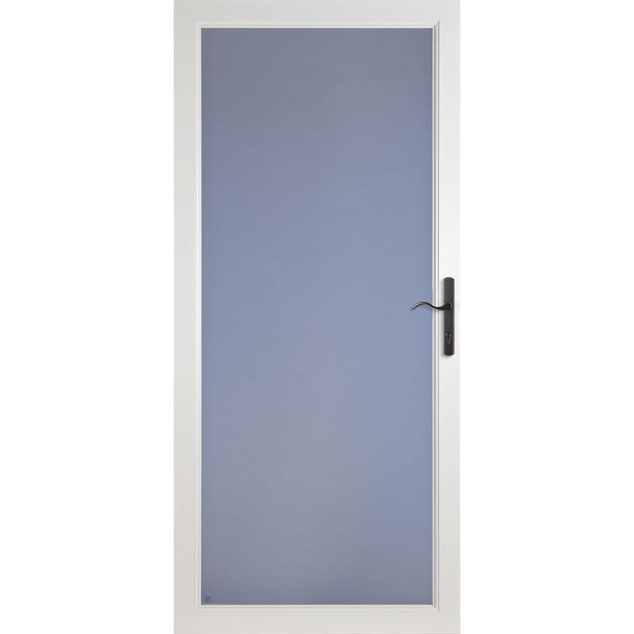 Lowe S Security Storm Doors : Shop larson secure elegance white full view laminated