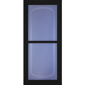 Shop larson tradewinds selection black full view beveled for Storm door screen insert