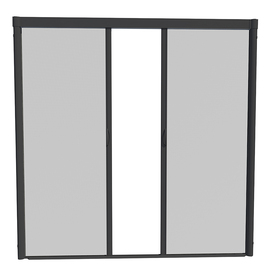 Shop larson escape 84 in x 79 in black retractable screen for Best rated retractable screen doors