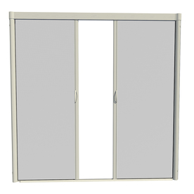 Shop larson escape 84 in x 79 in almond retractable screen for Best rated retractable screen doors