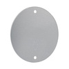 Hubbell TayMac 1-Gang Round Metal Weatherproof Electrical Box Cover